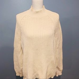 Kendall & Kylie sweater. Cream with open back.